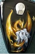Airbrush Dragon Skull Art On Tank Blueprint Pictures Picture Picture