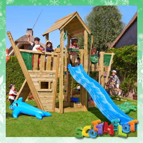 Outdoor Climbing Toys : Kids child s wood garden pirate ship climbing frame boat