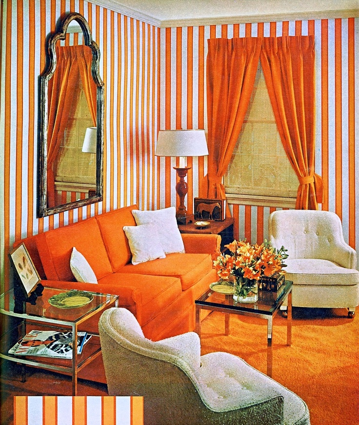 What,s Old, Is New Again. Orange Painted Walls, Furniture