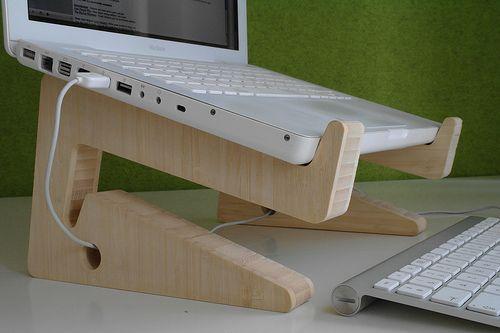 Soporte madera para notebook