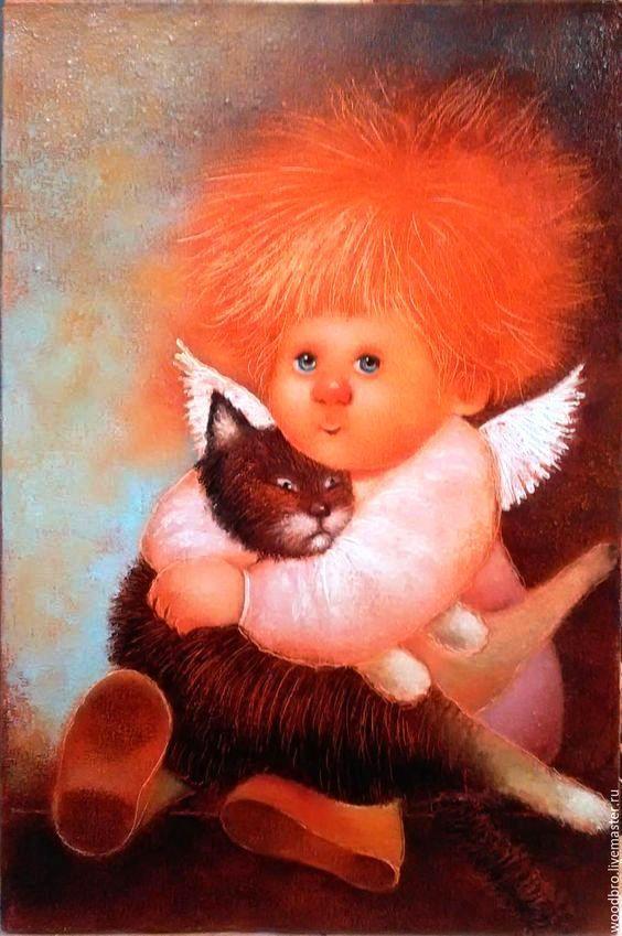Чувиляева Галина: картины с солнечными ангелами | Азбука декупажа