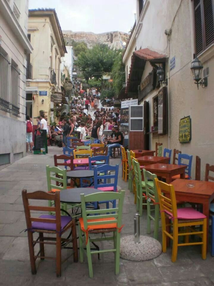 Old Plaka District, below the Acropolis-#Athens #Greece