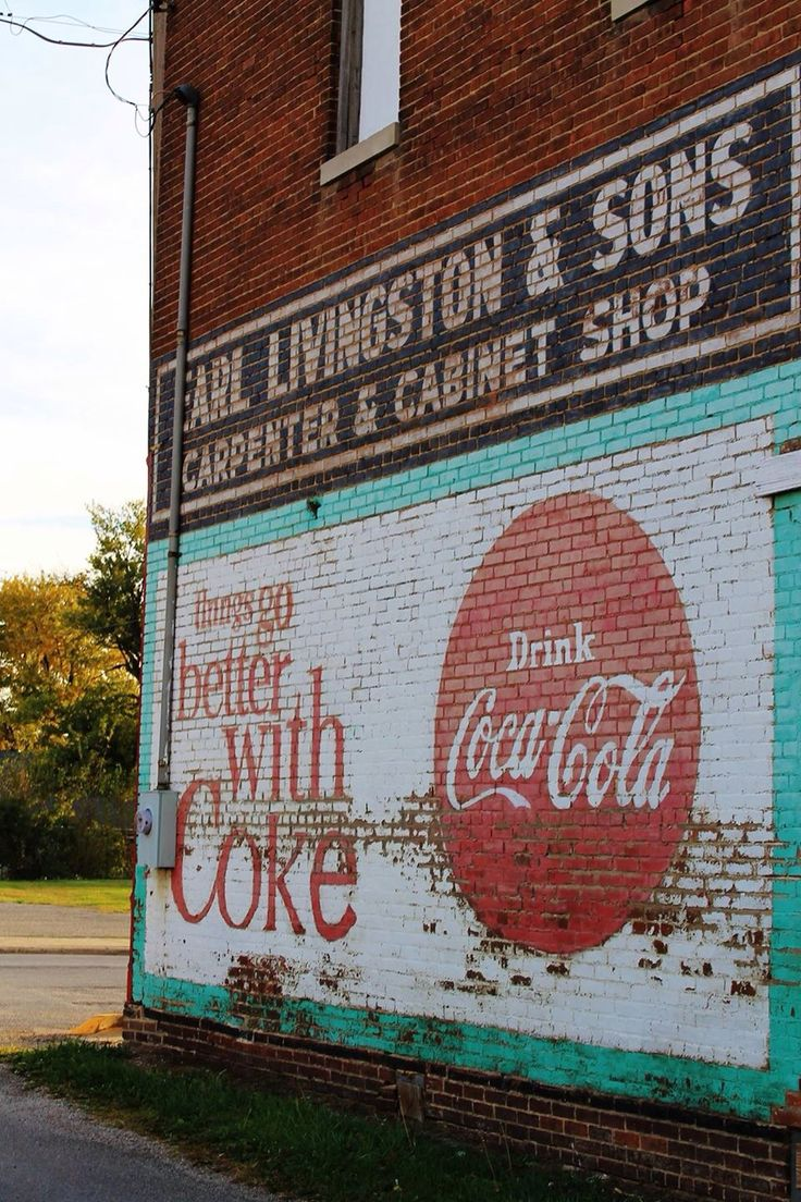 Illinois edgar county kansas - Things Go Better With Coke Wall Mural In Kansas Il