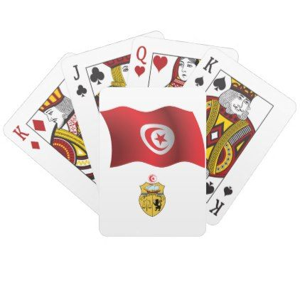Tunisia Flag Playing Cards - home gifts ideas decor special unique custom individual customized individualized