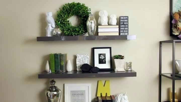 How To Decorate Floating Shelves Video Decorating Home Decorators