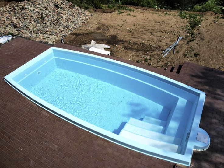 Intriguing Fiberglass Swimming Pools In Square Design: Great