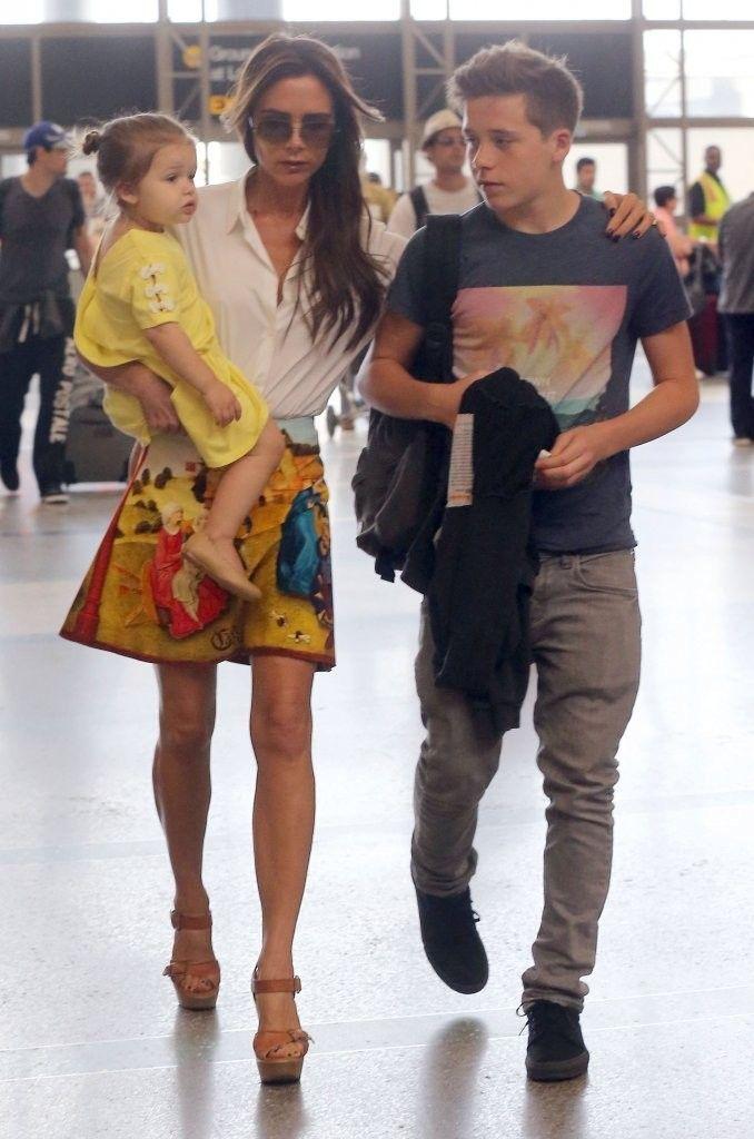 Posh, Brooklyn, and Harper Beckham