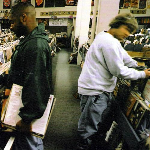 Endtroducing: This is the debut album by DJ Shadow. Like a surreal film     soundtrack on which jazz, classical, and jungle fragments are artfully     blended with turntable tricks and dialogue snippets, this album takes hip-    hop into the next dimension. It is structured almost entirely out of     sampled elements from various musical genres as well as samples from old     television shows, interviews and percussion tracks.   http://www.discogs.com/DJ-Shadow-Endtroducing/master/15313
