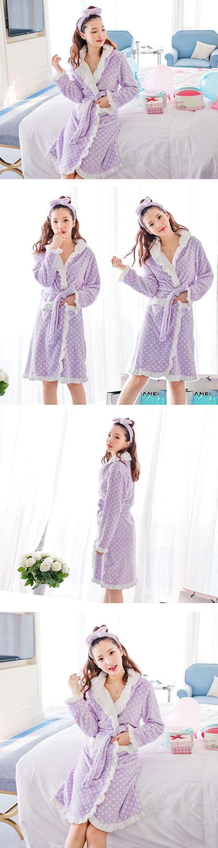 Wydz / verkko mukaan Dan lapsen naisten malleja syksyllä ja talvella flanelli pyjama Coral sametti viitta pitsi kylpytakki kotipalvelu -tmall.com Lynx