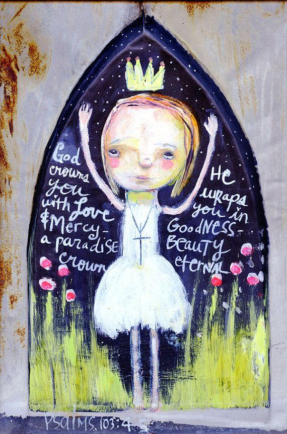 Embrace Your Crown 5x7 mixed media art print by Mindy by timssally, $10.00