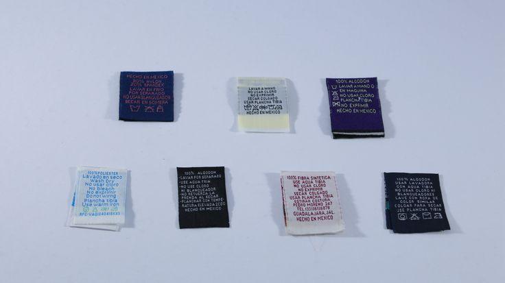Etiquetas Bordadas de Instrucciones de lavado. #etiquetas #instrucciones #lavado #moda #diseño #fashion #textil #bordado #instruccionesdelavado