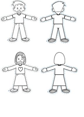 Flat Stanley cutouts. So much cuter than the regular ones!