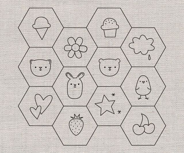 Hexagon Embroidery Patterns