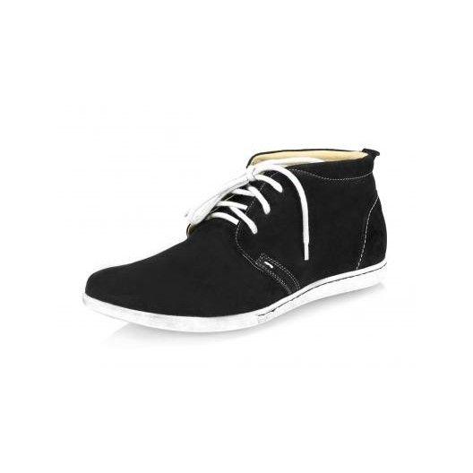 Pánske kožené topánky čierne PT015 - manozo.hu
