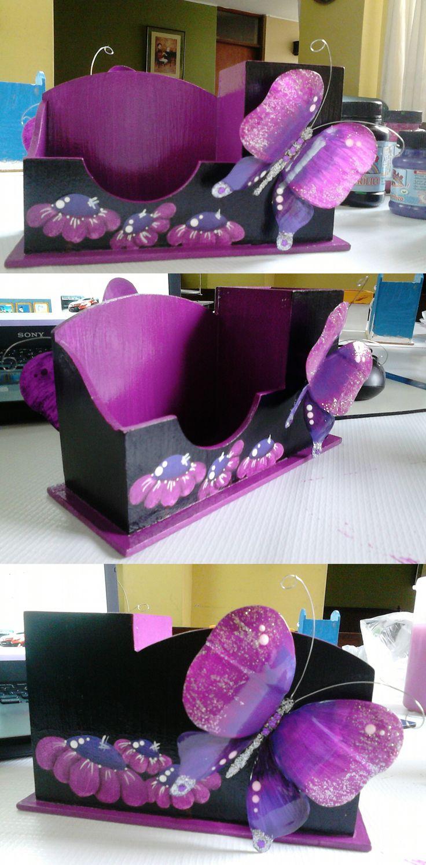 Organizador de escritorio aplicando las mariposas - Organizador escritorio ...