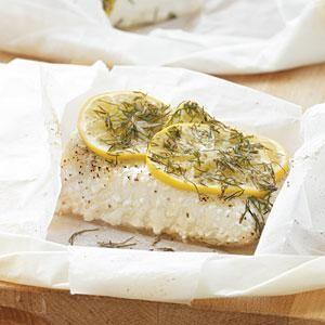 Meyer Lemon and Dill Fish Parcels Recipe | MyRecipes.com