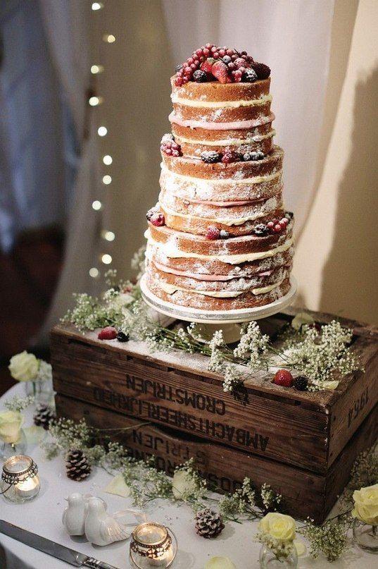"""""""Голый"""" торт с ягодами. Натуральность и стиль. Тренды 2015 на свадебный торт"""