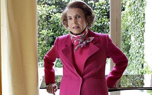 Liliane Bettencourt, French billionaire and L'Oreal heiress