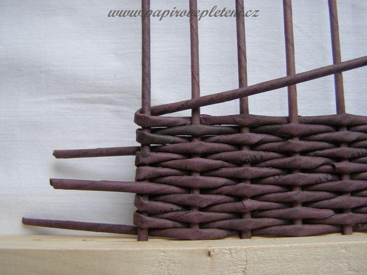Papírové pletení - Fotoalbum - Návody - Návod na vyplétané dno pomocí stavu na pletení