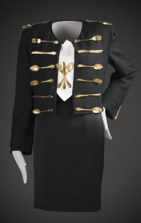 """Dinner"" Ensemble, Franco Moschino, 1989-1990, The Los Angeles County Museum of Art"