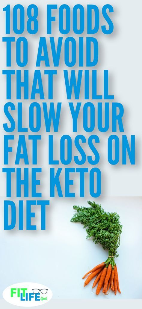 Knowing what foods to avoid on the ketogenic diet is critical to weight loss success. Check out these 108 foods that will keep you from burning fat. #keto #ketogenicdiet #diettips