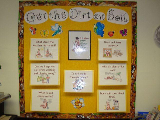 Soil bulletin board interactive ideas the dirt on soil for Science dirt