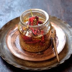Bharwan Laal Mirch ka Achar: Dare to warm yourself up with these Indian spice stuffed Red Chilli Pickle