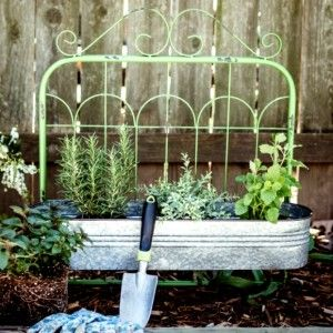 Rustic Metal Gate Planter    So Cal Antiques Vintage Shabby Chic  Find us on Facebook!
