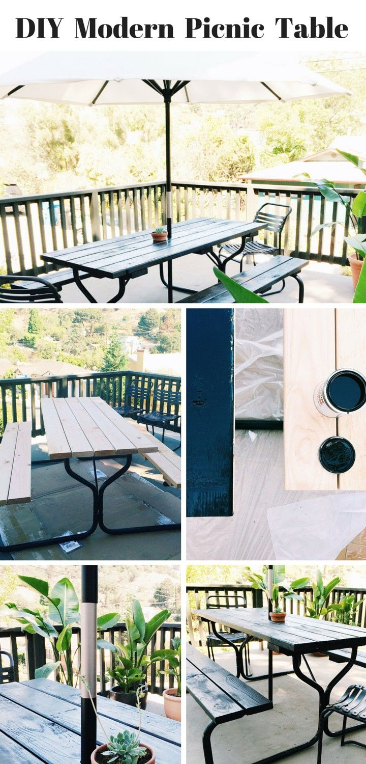DIY Modern Picnic Table Inspired By True Value.