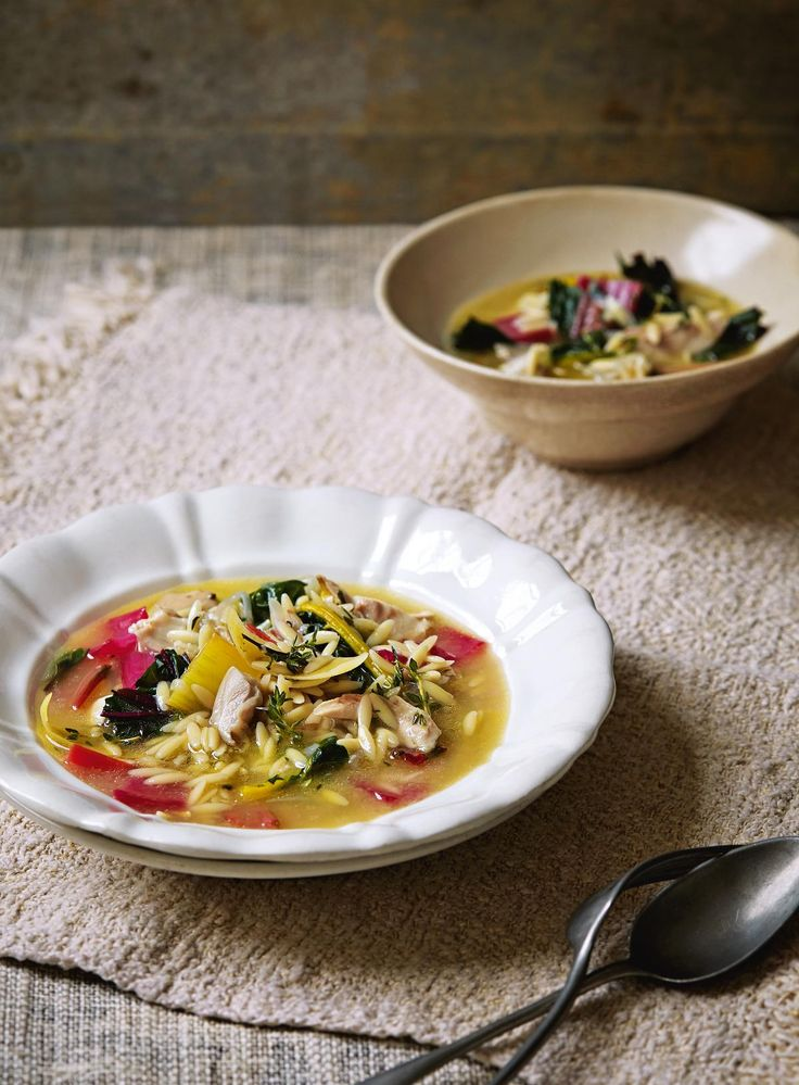 Orzo pasta recipes with chicken broth