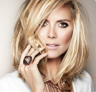 Heidi Klum ~ my hairdresser and several clients and staff kept telling me how much I look like Heidi Klum!!! Now my hair def does in this pic!!!