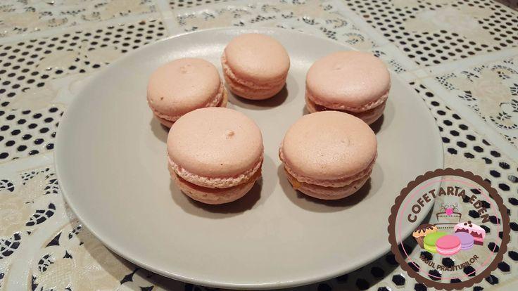 Homemade Pink macarons