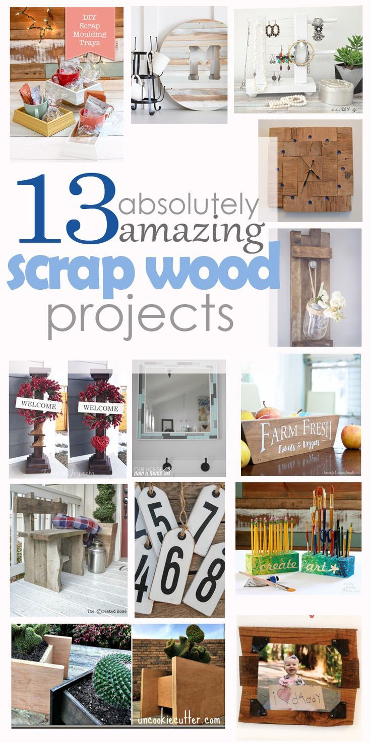 13 scrap wood projects, DIY, woodworking