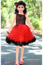 awesome looks in red color dress.......!!! she look so pretty.......!!! #kids #wear #forwedding  #covaiweddingshoppers