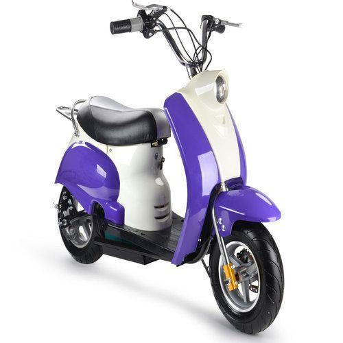 MotoTec 350 Watt 24 Volt Kids Electric Moped Scooter in…