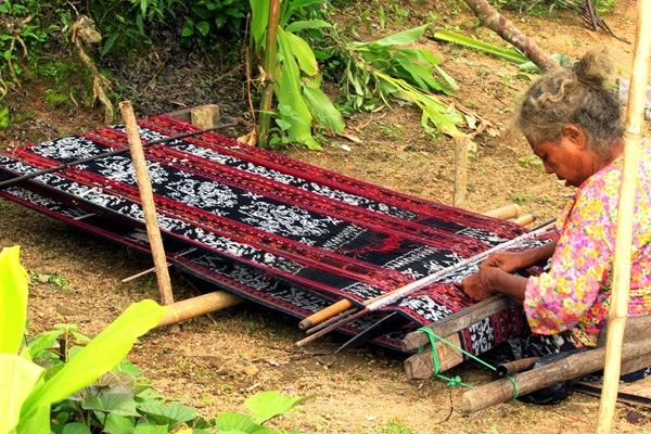 Watublapi Traditional Ikat Weaving of Sikka East of Maumere Flores Island -East Nusa Tenggara - Indonesia