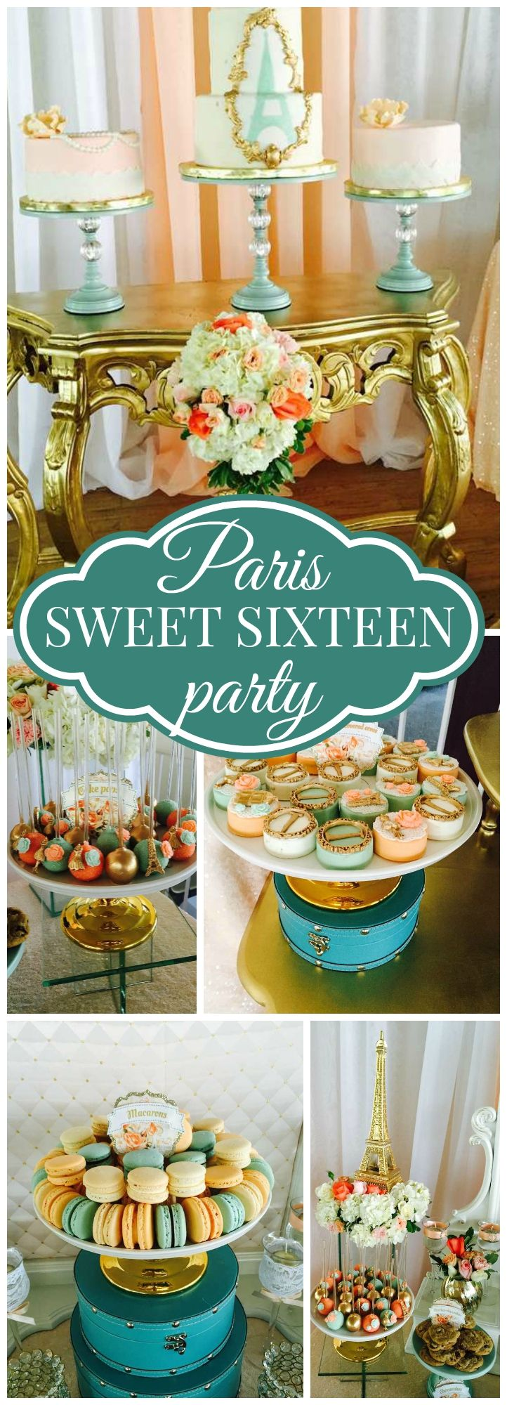 Such a gorgeous Parisian sweet sixteen party! See more party ideas at CatchMyParty.com!