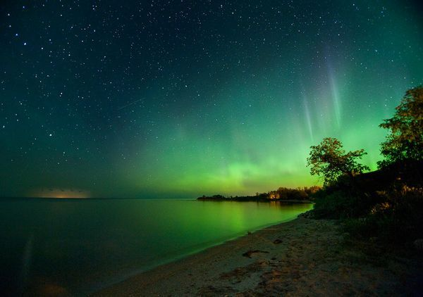 Clear Lake Manitoba...watching the Northern Lights