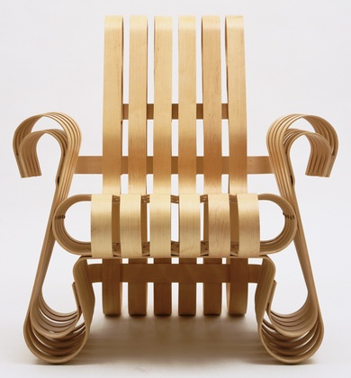 Frank O. Gehry. Power Play Armchair. 1991. @designerwallace