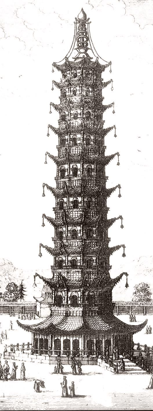 磁器の塔(中国,南京) Porcelain Tower Of Nanjing, In China