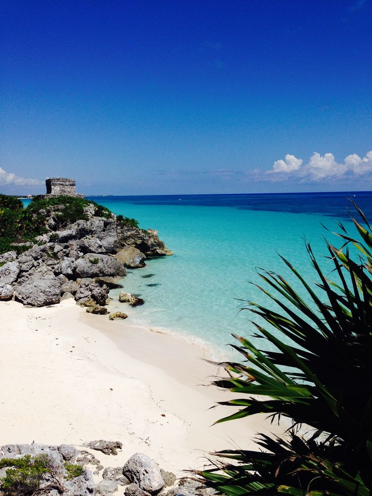 "The Mayan temple by the beach. Aedes de Venustas in Tulum getting inspired for the perfume creation ""Copal Azur"""