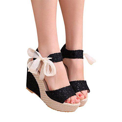 c993cedb66ba5 Sandales Compensées Femme Sandales Talon Compensé Chaussures Tongs Sandales  Talons Hauts Bout Ouvert Plate-Forme Mode Été Pente Sandales Mocassins ...