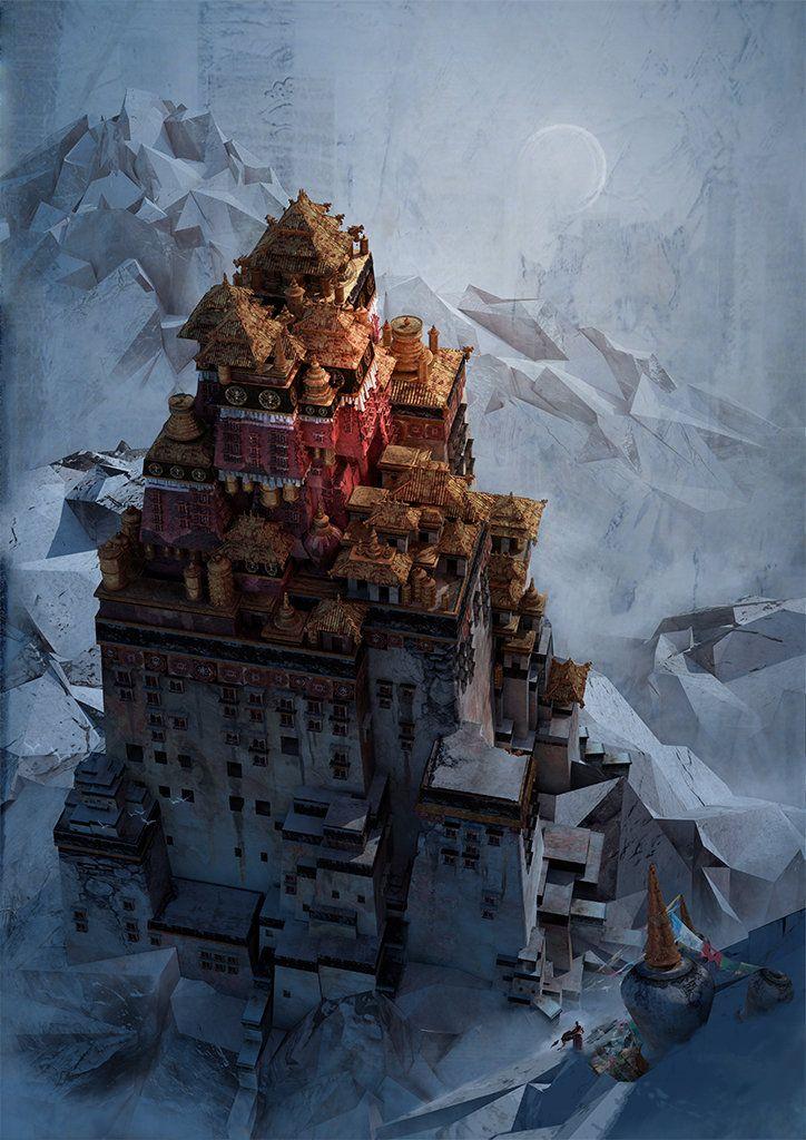 Holy Temple by Te Hu on ArtStation