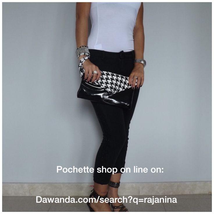 Shop online http://it.dawanda.com/search?q=Rajanina #pochette #pieddepoul #bag #bags #outfit #look #fashion #ecopelle