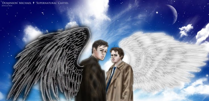 Dominion-Michael/ SPN-Castiel :Two guardian angel by noji1203.deviantart.com on @deviantART