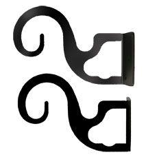 angled double curtain rod brackets | Double / Triple Curtain Rod Bracket for 3/4 in. Rods - Pair