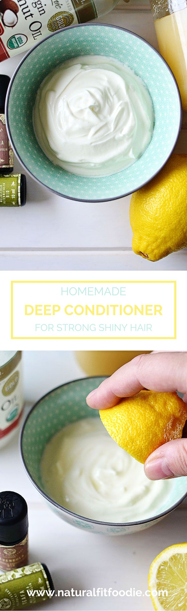 This Homemade Deep Conditioner is full of nourishing ingredients to revive your hair and improve its condition. Achieve healthier locks with every use!