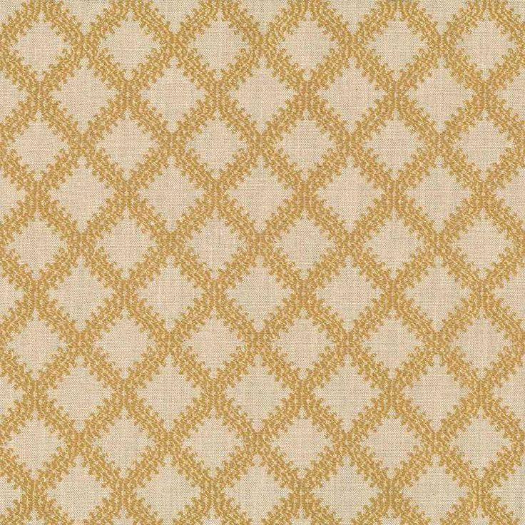 Warwick Fabrics : LIMOGES, Colour OLD GOLD