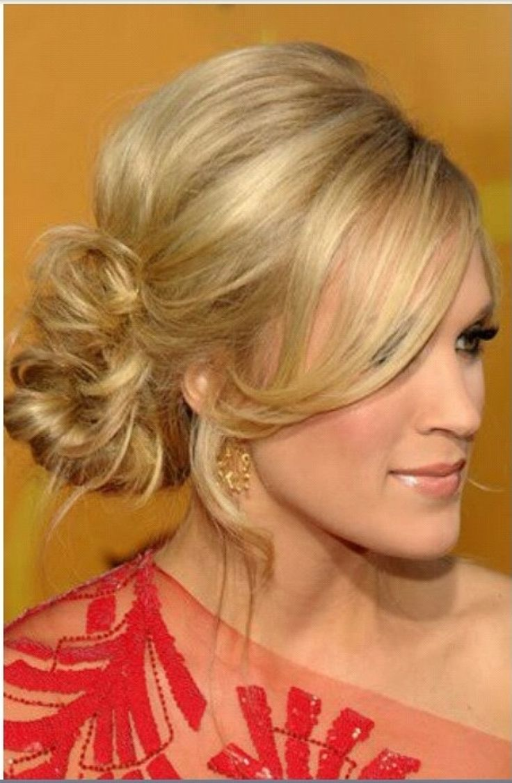 hair bun styles for hair side updo coiffure updo carrie and hair 4162