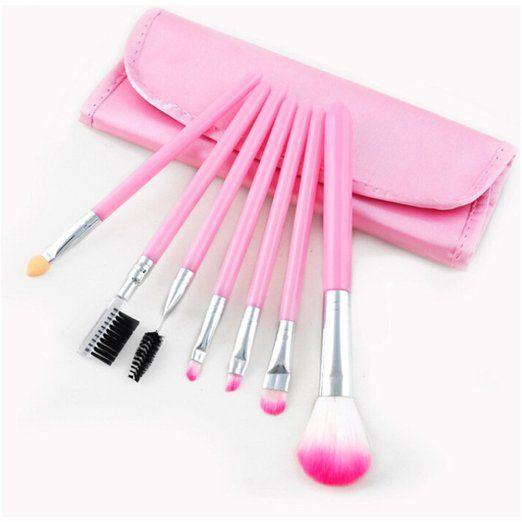 Amazon.com : Addfavor 7 PCS Makeup Brush Professional Cosmetics Brush Set Makeup Kit Foundation Flawless Blending Blush Beauty Make up Brushes Tools with Case, Black, Pink, Purple (Black) : Beauty